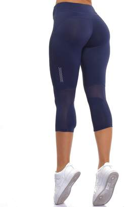 4841270bf6a7a CFR New Mesh Workout Capris Skinny Fitness Leggings Yoga Pants Stretch  Tight Fit Sport Trousers ,