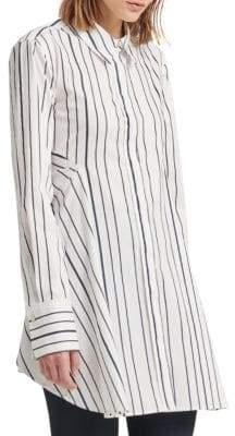 Donna Karan Flare Striped Button-Down Shirt