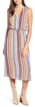 WAYF Sleeveless Blouson Midi Dress
