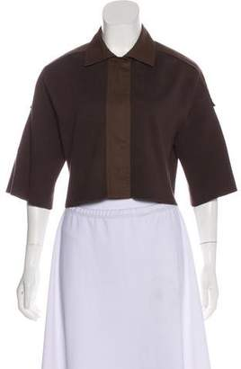 Akris Punto Short Sleeve Crop Top