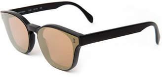 Illesteva Rectangle Lenses-Over-Frame Sunglasses
