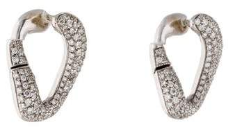 Damiani 18K Pavé Diamond Oval Earrings