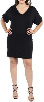 24/7 Comfort Apparel Plus Mini Dress