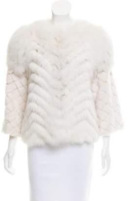Oscar de la Renta Mink & Fox Fur jacket