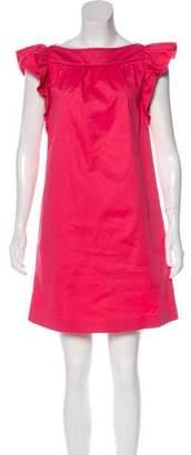 RED Valentino Ruffle Accent Mini Dress