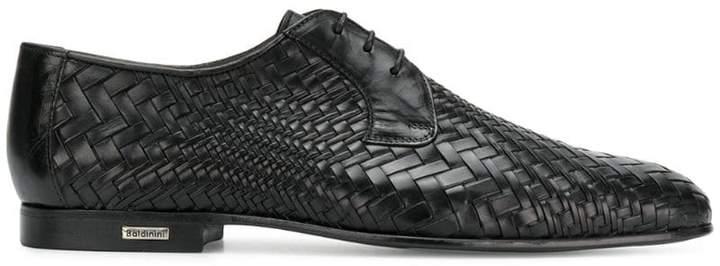 Baldinini woven derby shoes