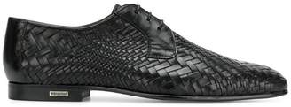Baldinini woven derby shoes