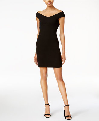 Bar III Off-The-Shoulder Bodycon Dress, Only at Macy's $69.50 thestylecure.com