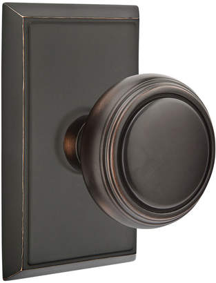 Rejuvenation Norwich Knob with Rectangular Backplate