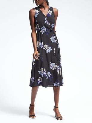 Sleeveless Floral Wrap Dress $148 thestylecure.com