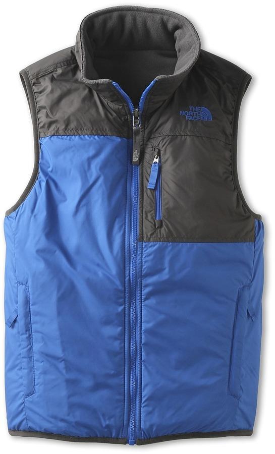 The North Face Kids - Insulated Reversible Ledger Vest (Little Kids/Big Kids) (Nautical Blue/Graphite Grey) - Apparel