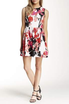 Love...Ady Textured Fit & Flare Dress