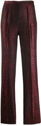 Jean Paul Gaultier Pre-Owned python-effect trousers