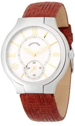 Philip Stein Teslar Men's Stainless Steel Chronograph Leather-Strap Watch