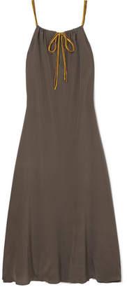 Eres Ornella Silk Crepe De Chine Maxi Dress - Dark gray