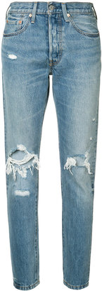 Levi's distressed high-rise jeans $98 thestylecure.com