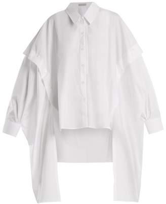Palmer Harding Palmer//Harding Palmer//harding - Point Collar Cotton Poplin Shirt - Womens - White