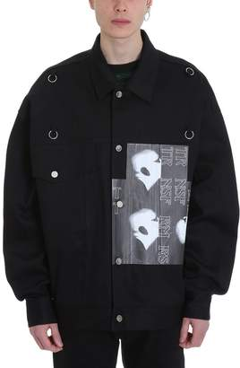 Raf Simons Bold Head Black Denim Jacket