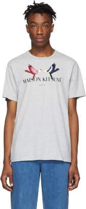 MAISON KITSUNÉ Grey Lovebird T-Shirt