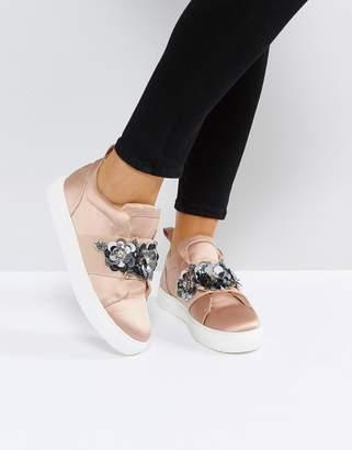 Asos DESIGN DESERT ROSE Embellished Sneakers