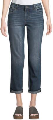 KUT from the Kloth Uma Roll-Cuff Boyfriend Jeans