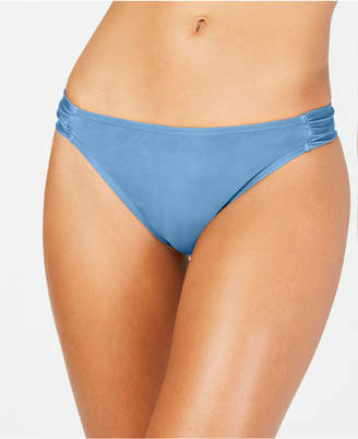 California Waves Solid Side Shirred Hipster Bottoms