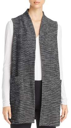 Eileen Fisher Textured Knit Long Vest