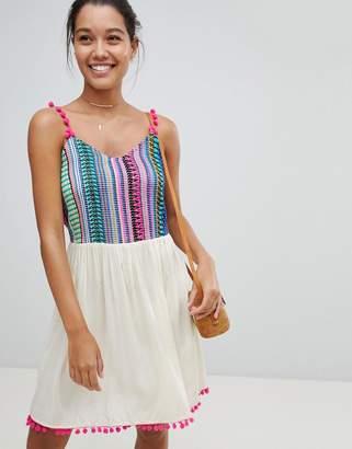 America & Beyond Multi Color Beach Dress