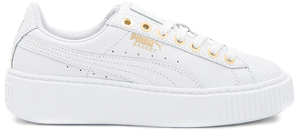 Puma Basket Pearlized Platform in $133 thestylecure.com