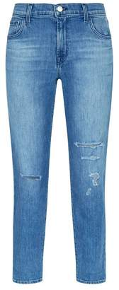 J Brand Johnny Distressed Boyfriend Jeans
