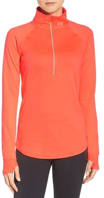 Women's Under Armour 'Layered Up' Water Resistant Half-Zip Top $64.99 thestylecure.com