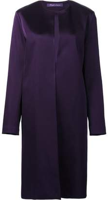 Ralph Lauren collarless midi coat