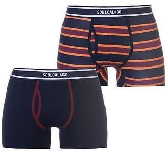Soul Cal SoulCal Mens Multi Stripe Boxers Trunks Underwear Stretch Striped Elasticated
