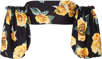 Onia +WeWoreWhat Ravello Off-The-Shoulder Floral-Print Bikini Top Size
