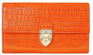 Aspinal of London Mayfair Purse In Deep Shine Amber Small Croc