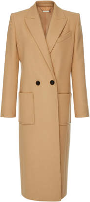 Givenchy Double-Breasted Wool-Felt Maxi Coat