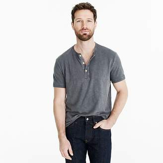 J.Crew Garment-dyed slub cotton short-sleeve henley