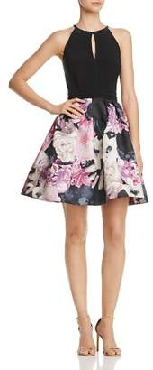 Aqua Floral Fit-and-Flare Dress - 100% Exclusive