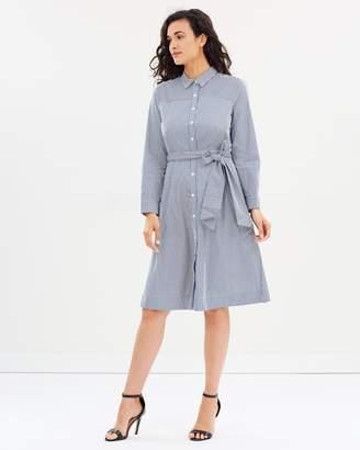 81a16161a2 J.Crew Maribou Mix Stripe Shirt Dress