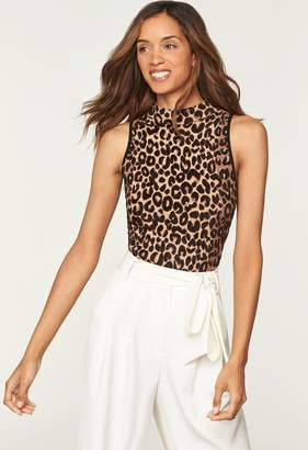 Milly Textured Cheetah Knit Shell