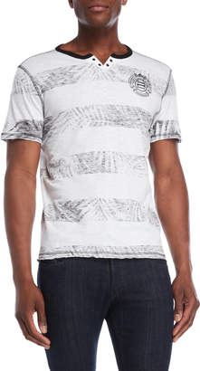 Buffalo David Bitton Faded Stripe Henley Tee