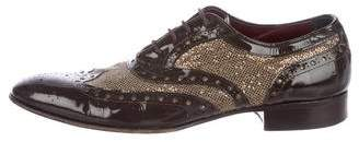 Jean-Michel Cazabat Metallic Wingtip Oxfords