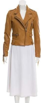Barbara Bui Leather Fringe-Accented Jacket
