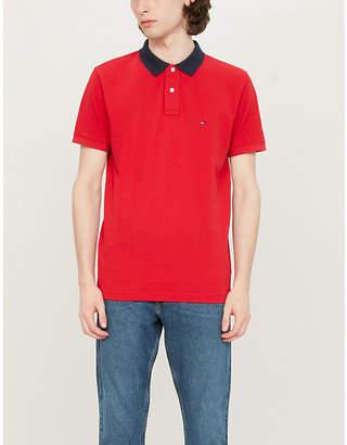 9d3d5168 Tommy Hilfiger Logo-embroidered cotton-piqué polo shirt