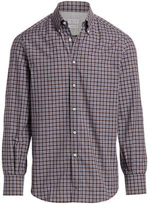 Brunello Cucinelli Check Sport Shirt