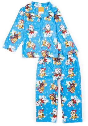 AME Sleepwear Paw Patrol Toddler Boys' 2 Piece Button Down Coat Pajamas Set