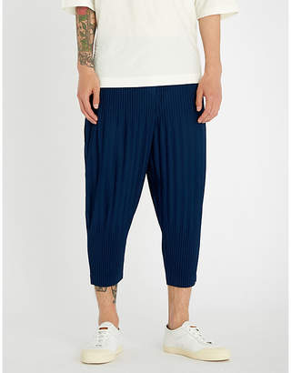 Issey Miyake Homme Plisse Relaxed-fit cropped pleated trouser