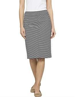 David Jones Stripe Ponte Skirt