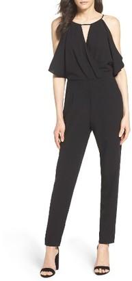 Women's Adelyn Rae Cold Shoulder Woven Jumpsuit $106 thestylecure.com