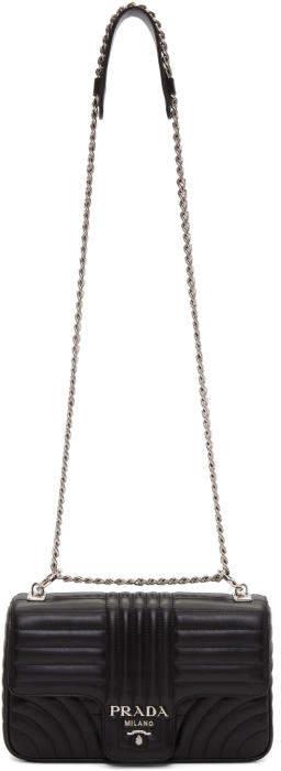 Prada Black Large Quilted Chain Crossbody Bag